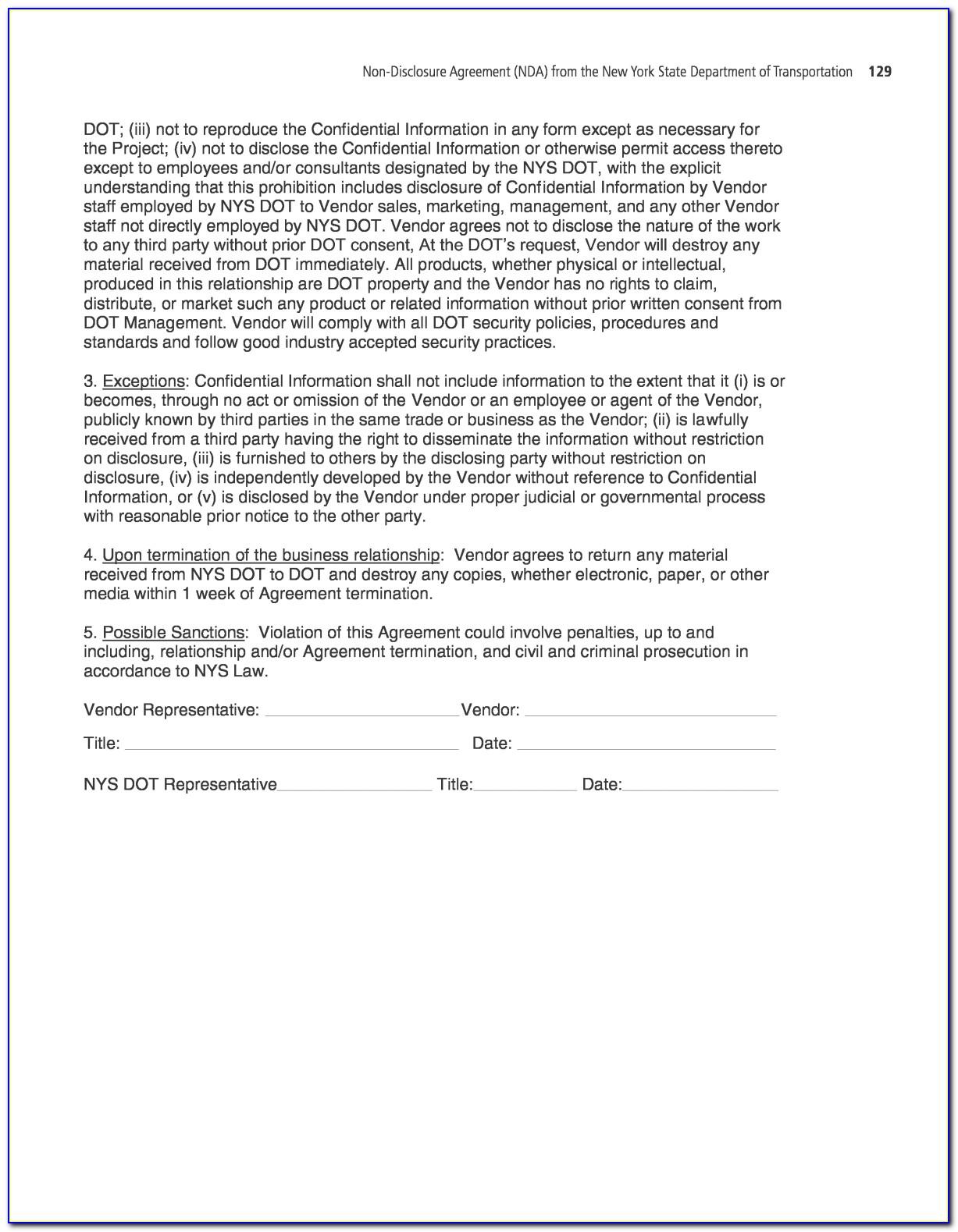 Patent Non Disclosure Agreement