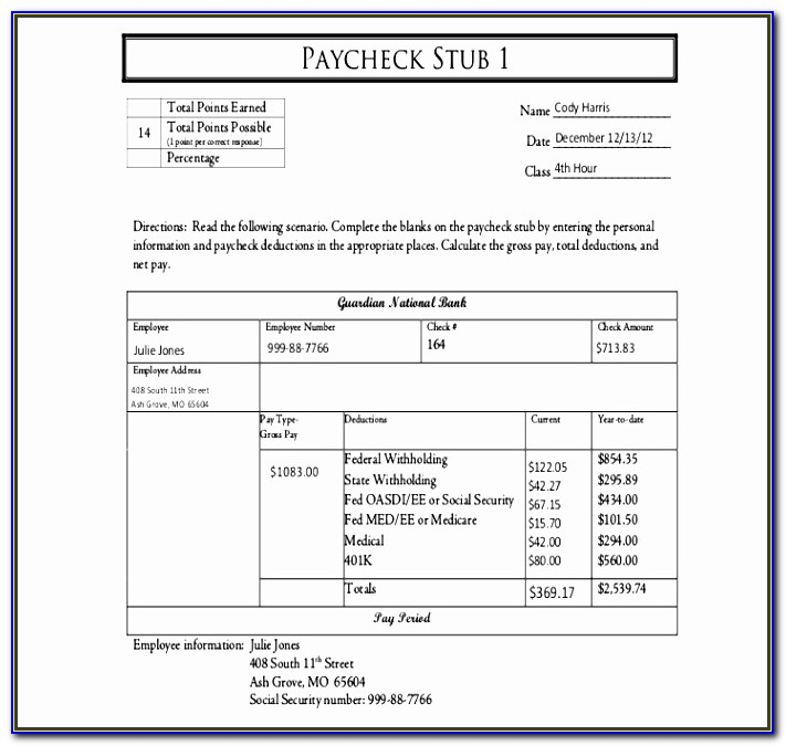 Employee Paycheck Stub Template Bxxtx Unique 20 Free Pay Stub Templates Free Pdf Doc Xls Format