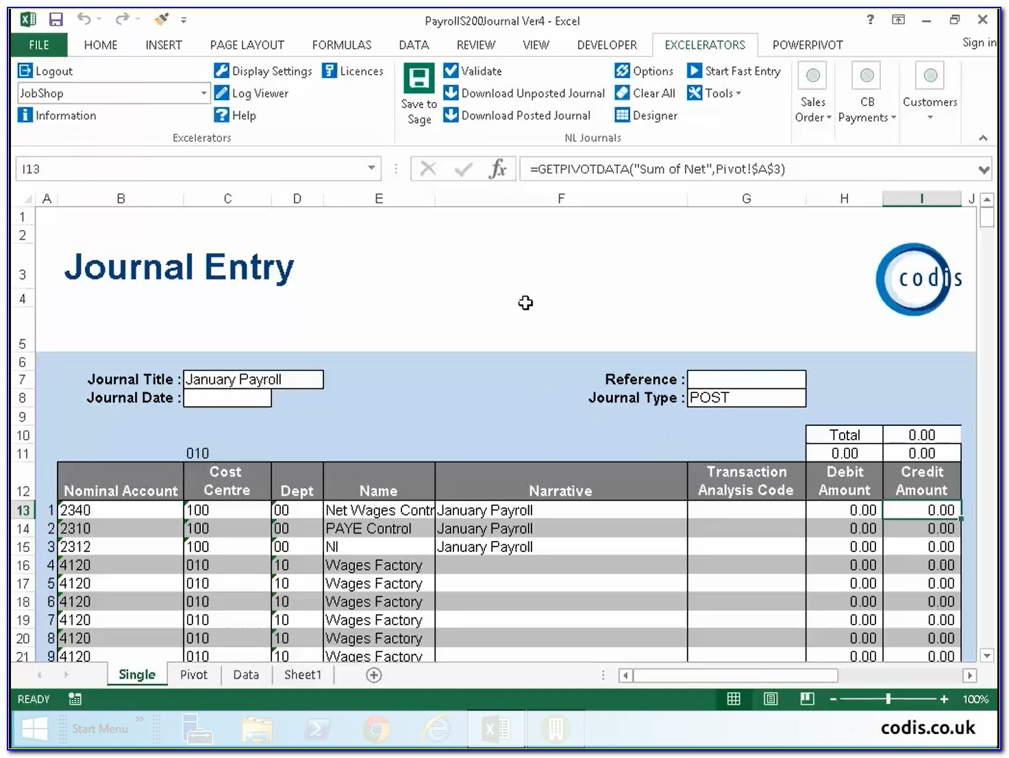 Payroll Journal Entry Template Uk