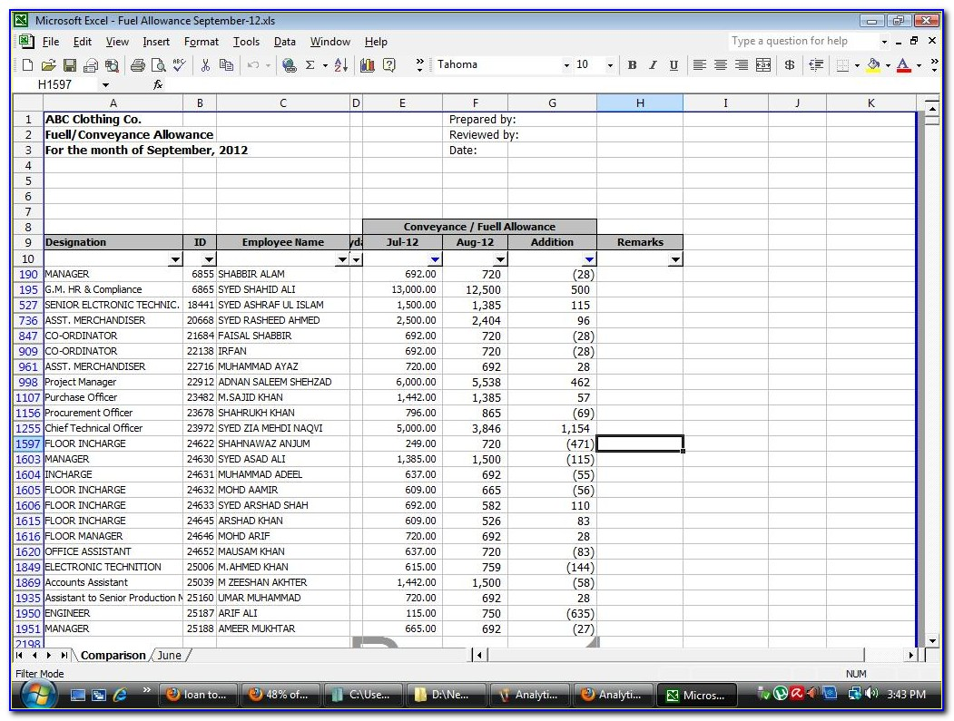 Payroll Processing Checklist Template Excel