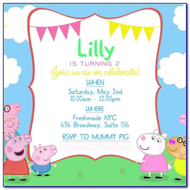 Peppa Pig 2nd Birthday Invitations 18 Of Peppa Pig Invitations Template Blank
