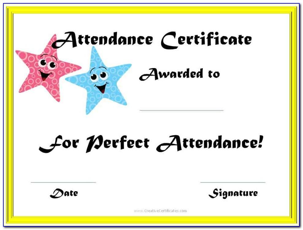 Perfect Attendance Certificate Template Deped