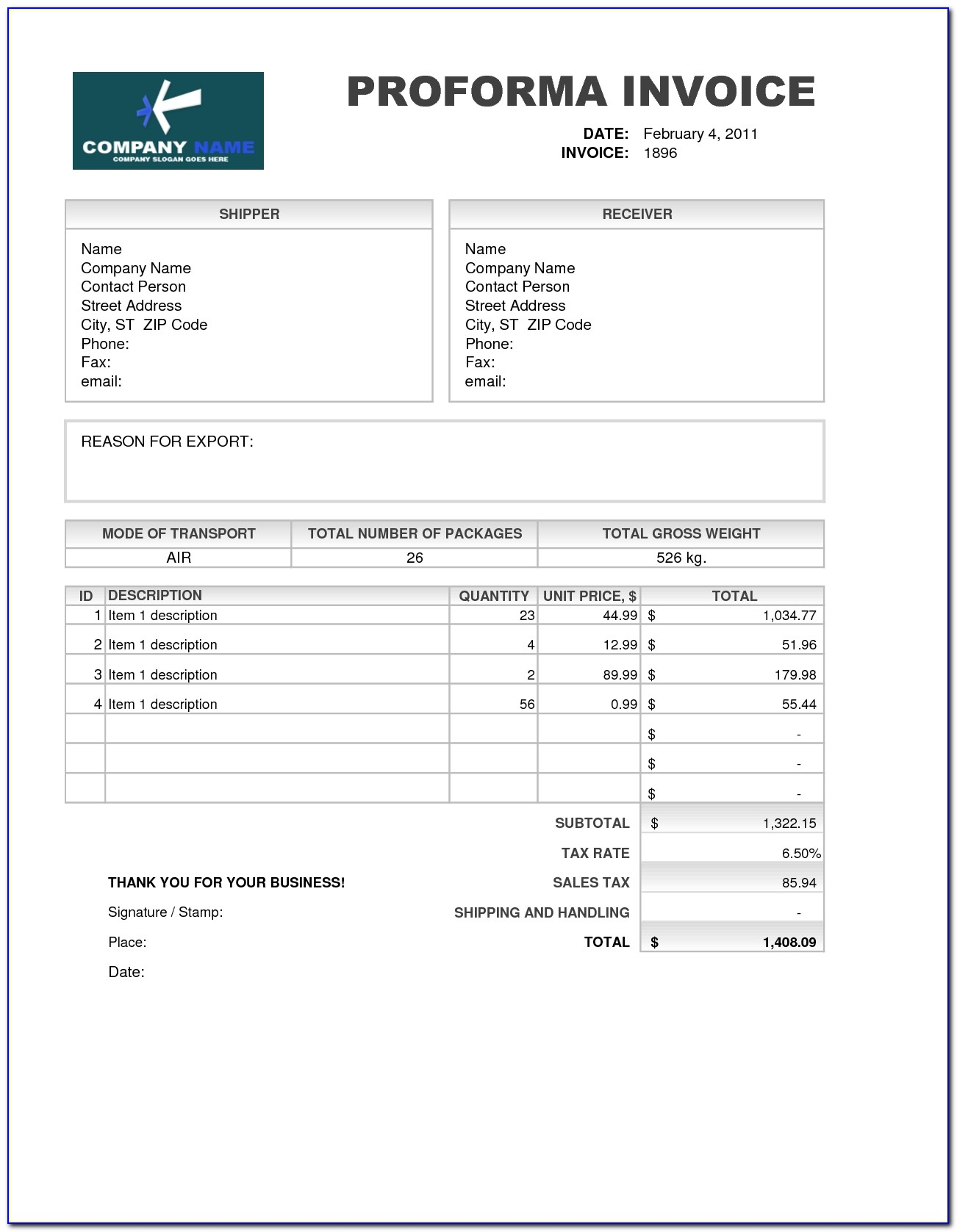 You May Download Best Here Performa Invoice Template Performance Invoice Sample