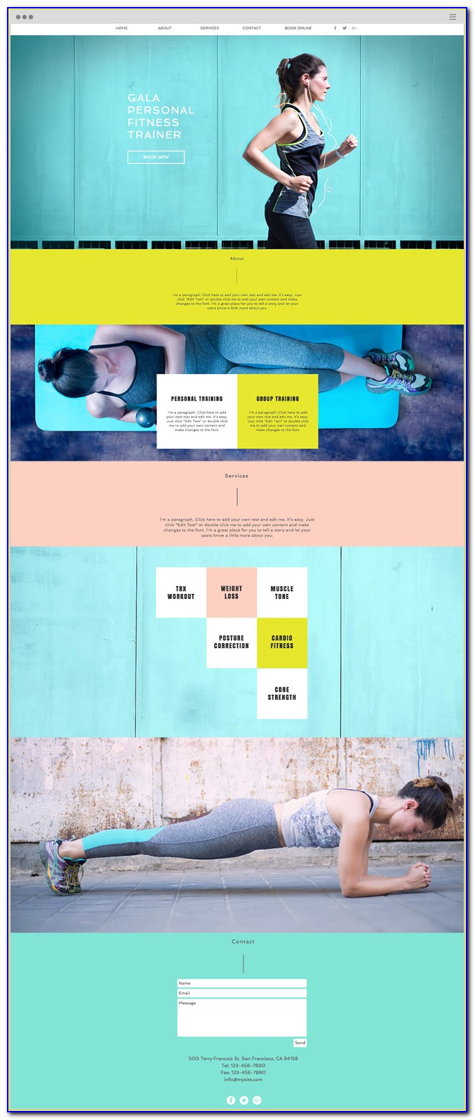 Personal Trainer Websites Templates