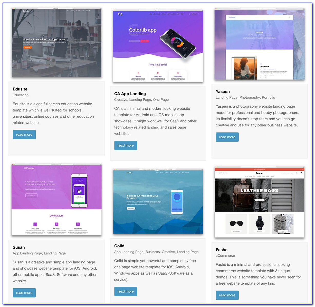 Personal Website Free Templates