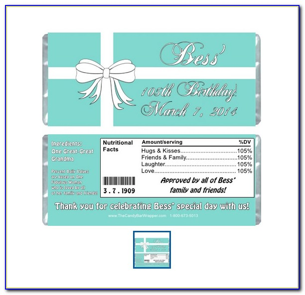 Personalized Candy Bar Wrappers Template Free