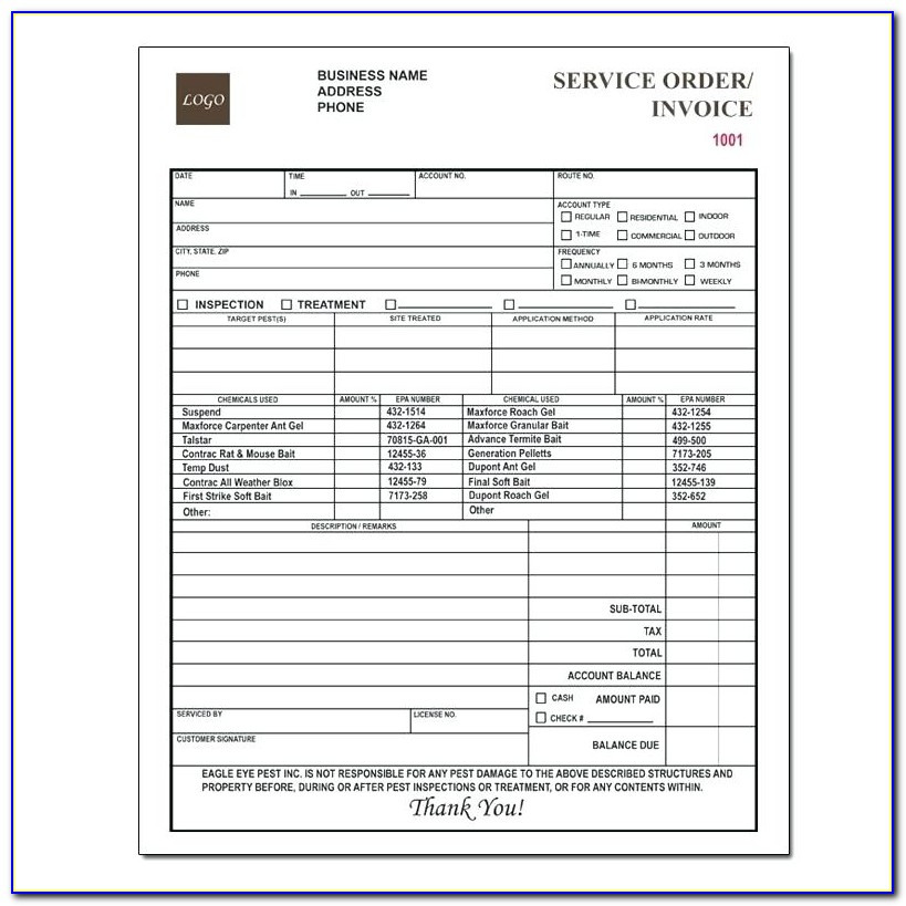 Pest Control Contract Templates