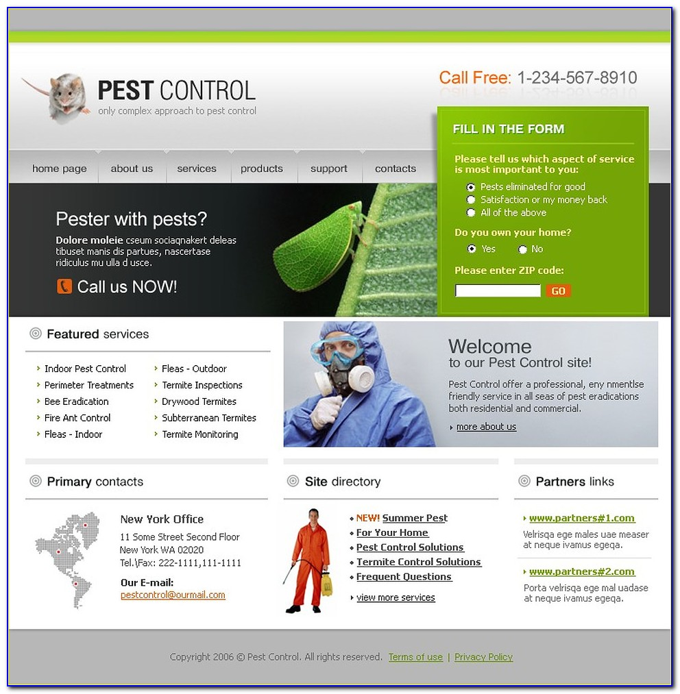 Pest Control Templates For Website