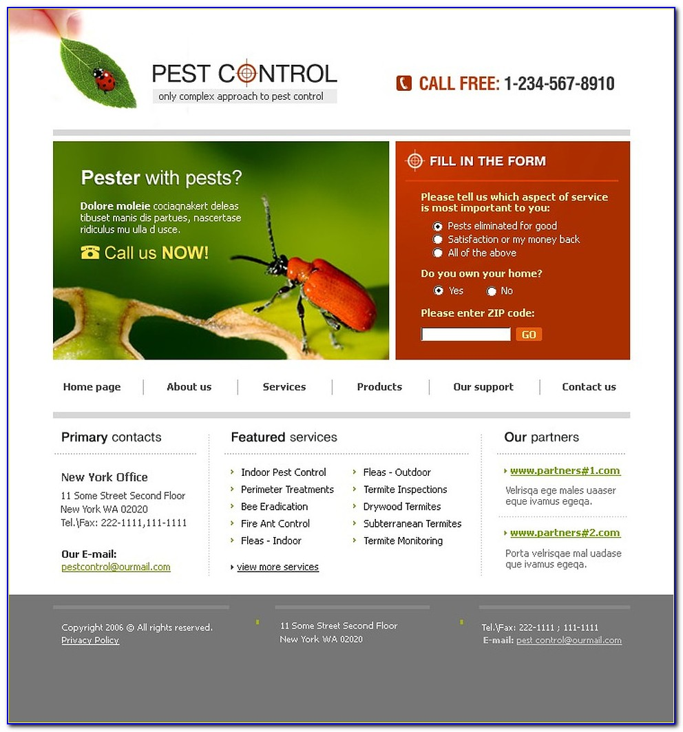 Pest Control Templates Free Download