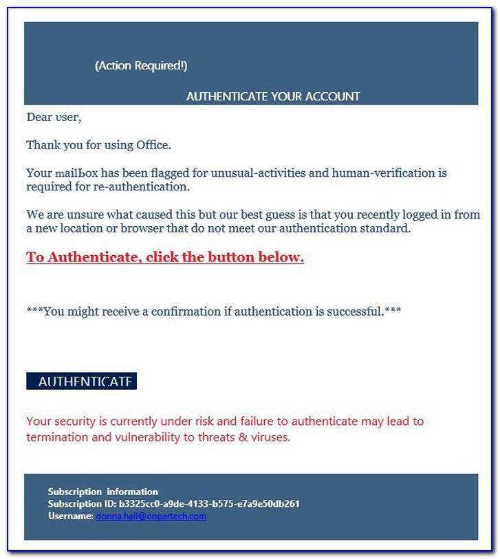 Phishing Email Templates Html