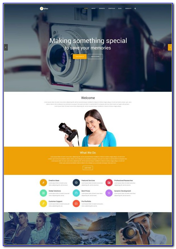 Photography Website Templates Free Download