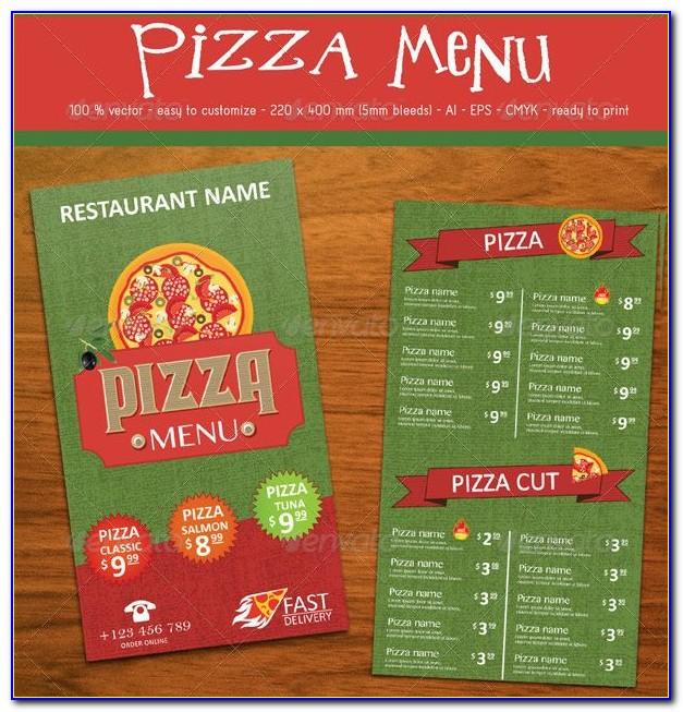 Pizza Menu Template Free Psd