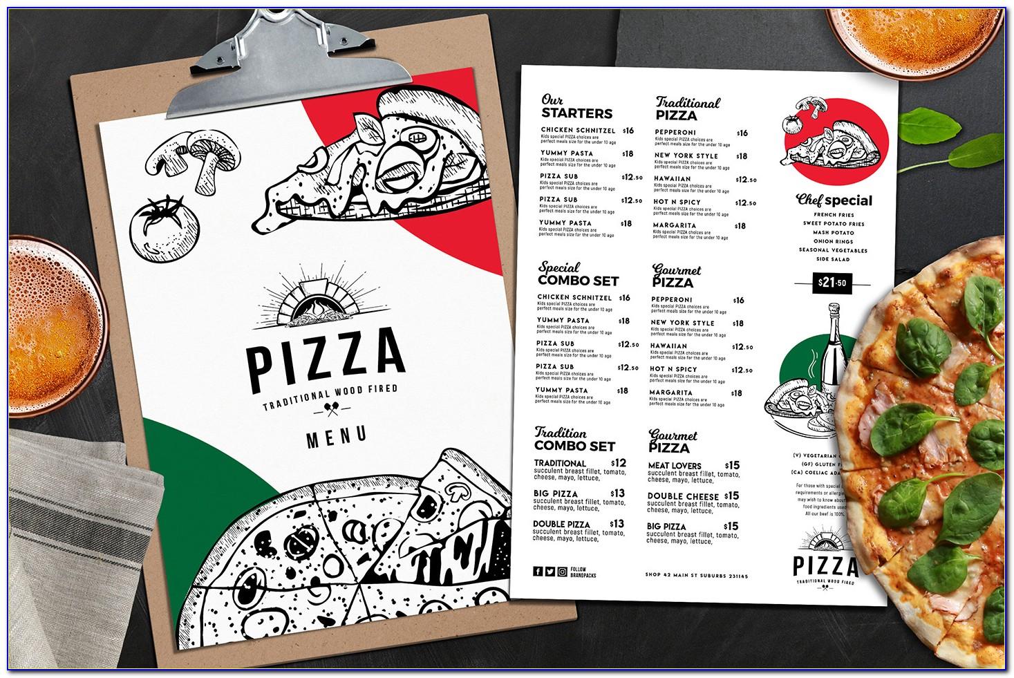 Pizza Menu Templates Illustrator
