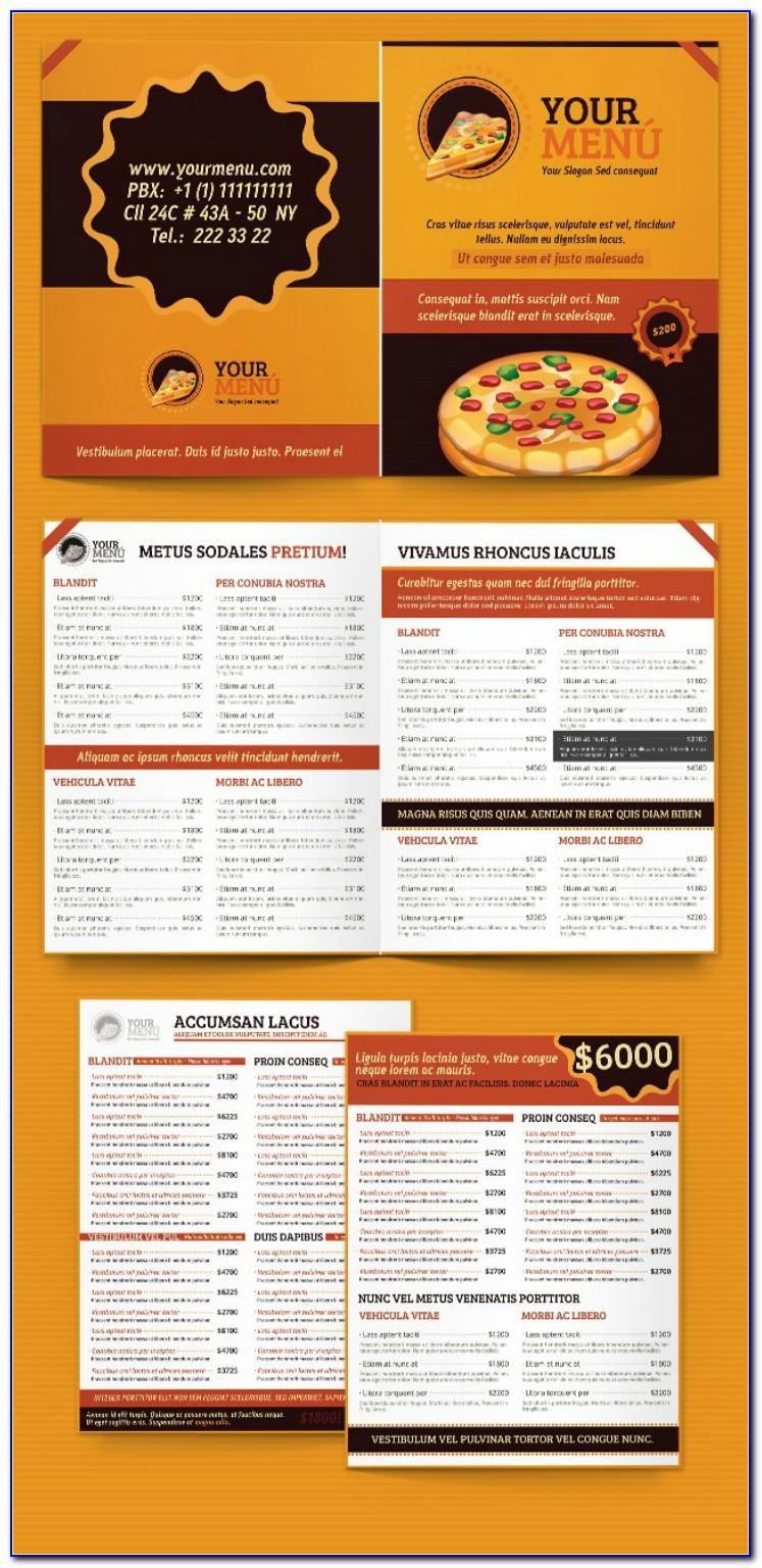 Pizza Menu Templates Microsoft Word