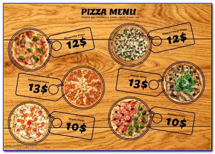 Pizza Restaurant Menu Template Free