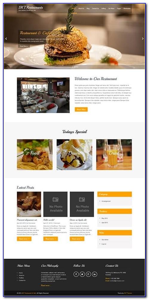 Pizza Restaurant Wordpress Templates