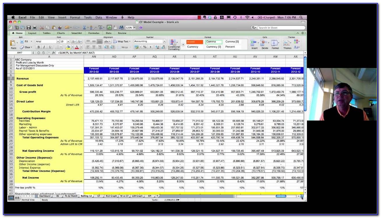 P&l Spreadsheet Template Free