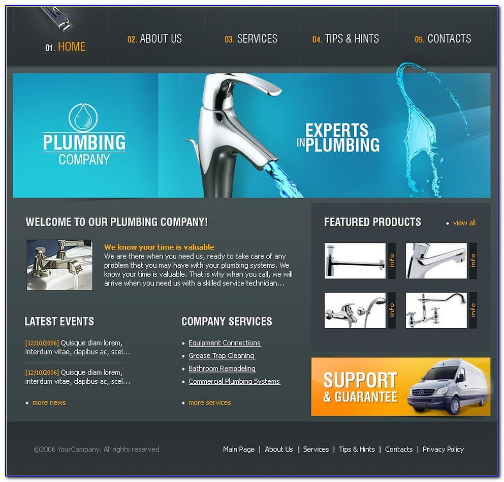 Plumber Website Templates Free Download
