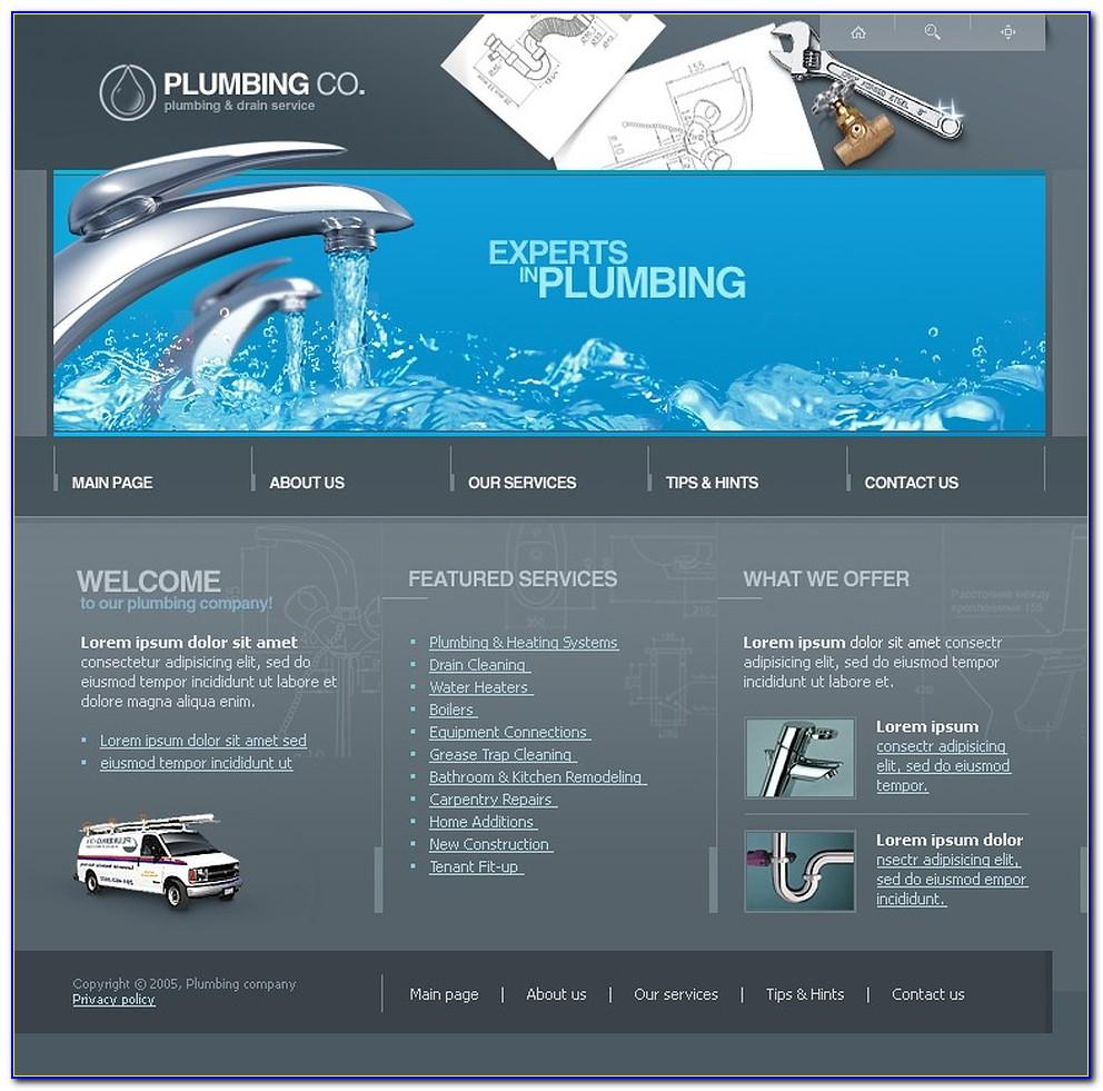 Plumbing Web Template