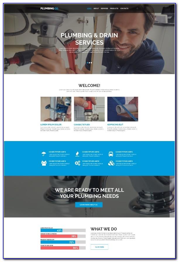 Plumbing Website Design Template