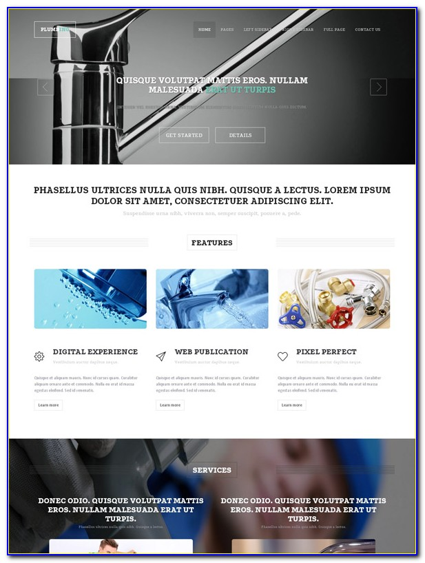 Plumbing Website Template Free