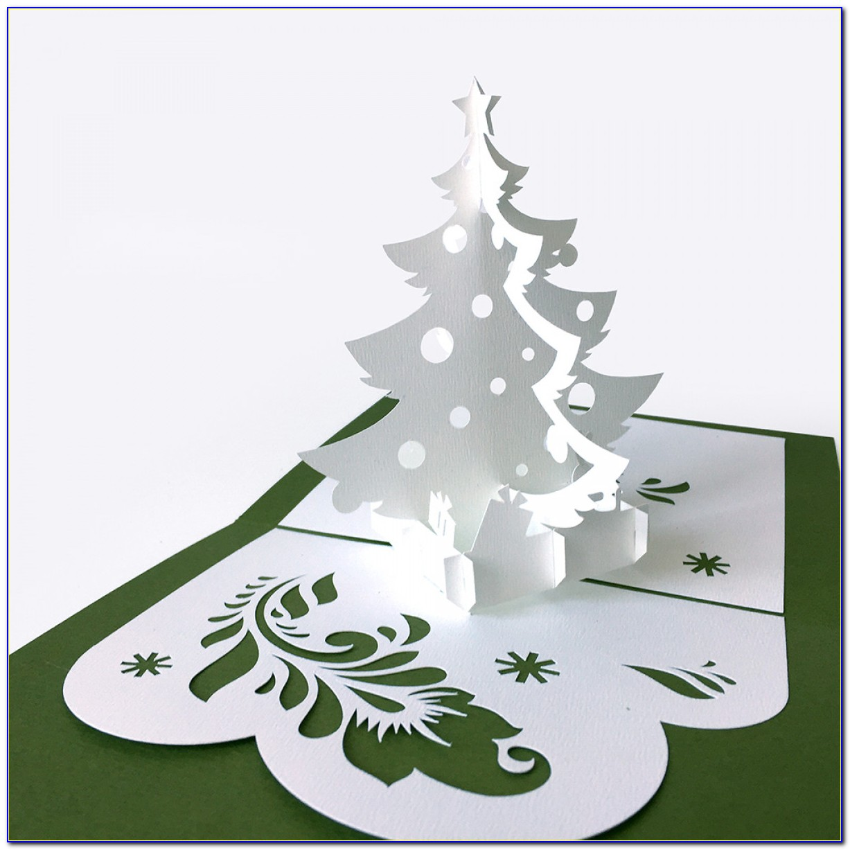 Pop Up Christmas Card Template Free
