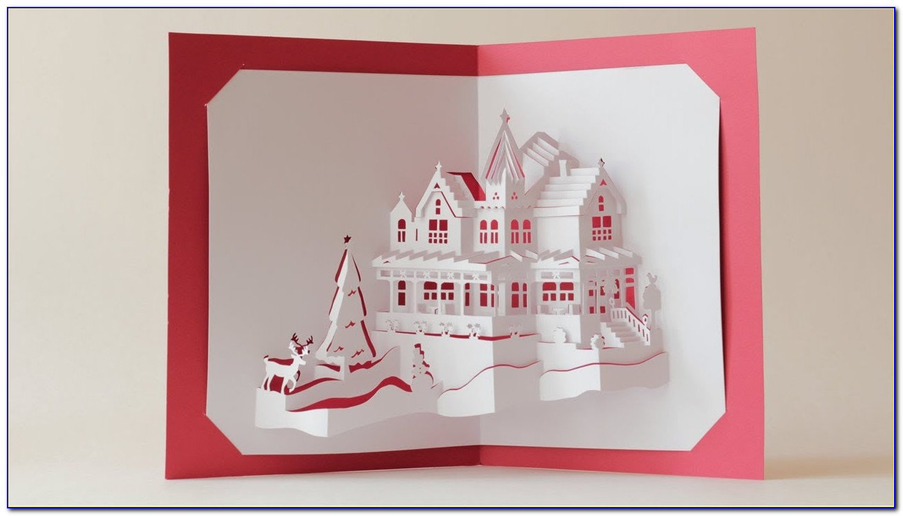 Pop Up Christmas Card Templates Free