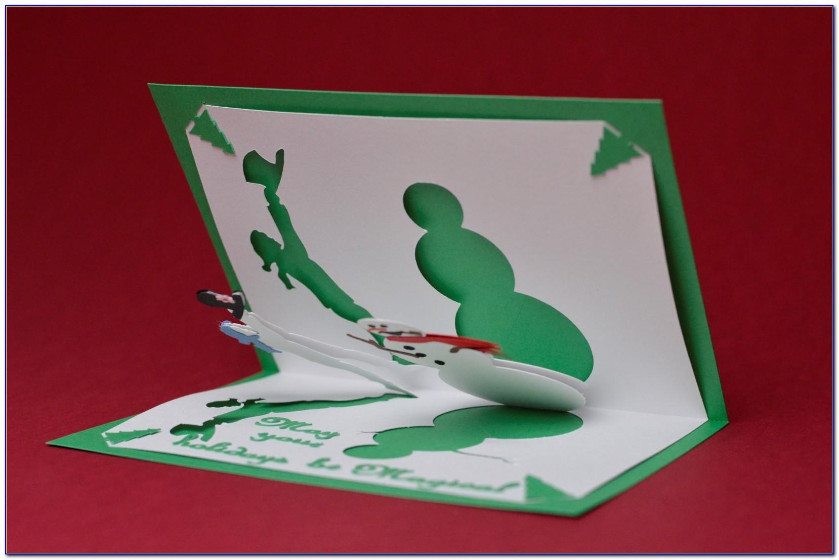 Pop Up Christmas Card Templates Printables