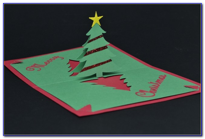 Pop Up Christmas Cards Templates