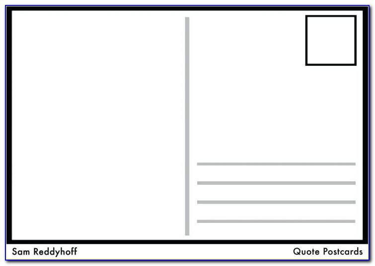Postcard Template 4 Per Page