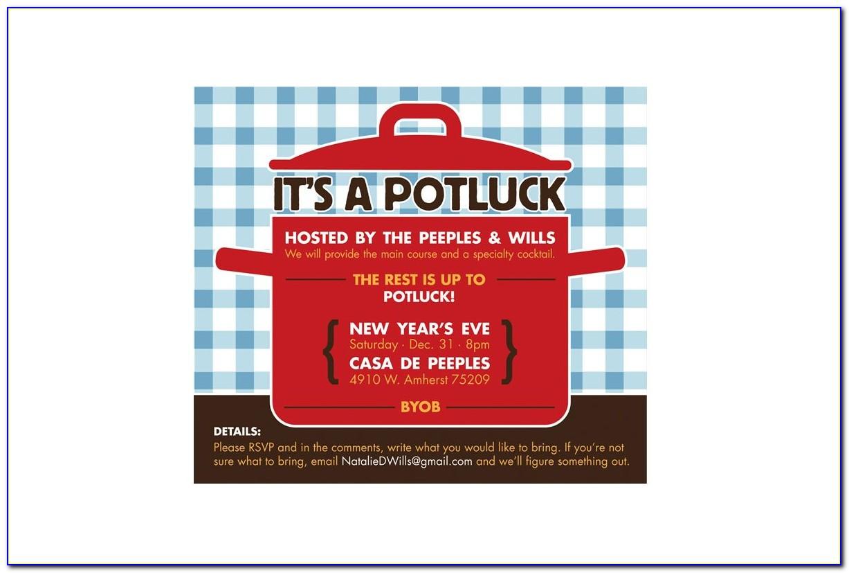 Potluck Party Invitation Wording Samples