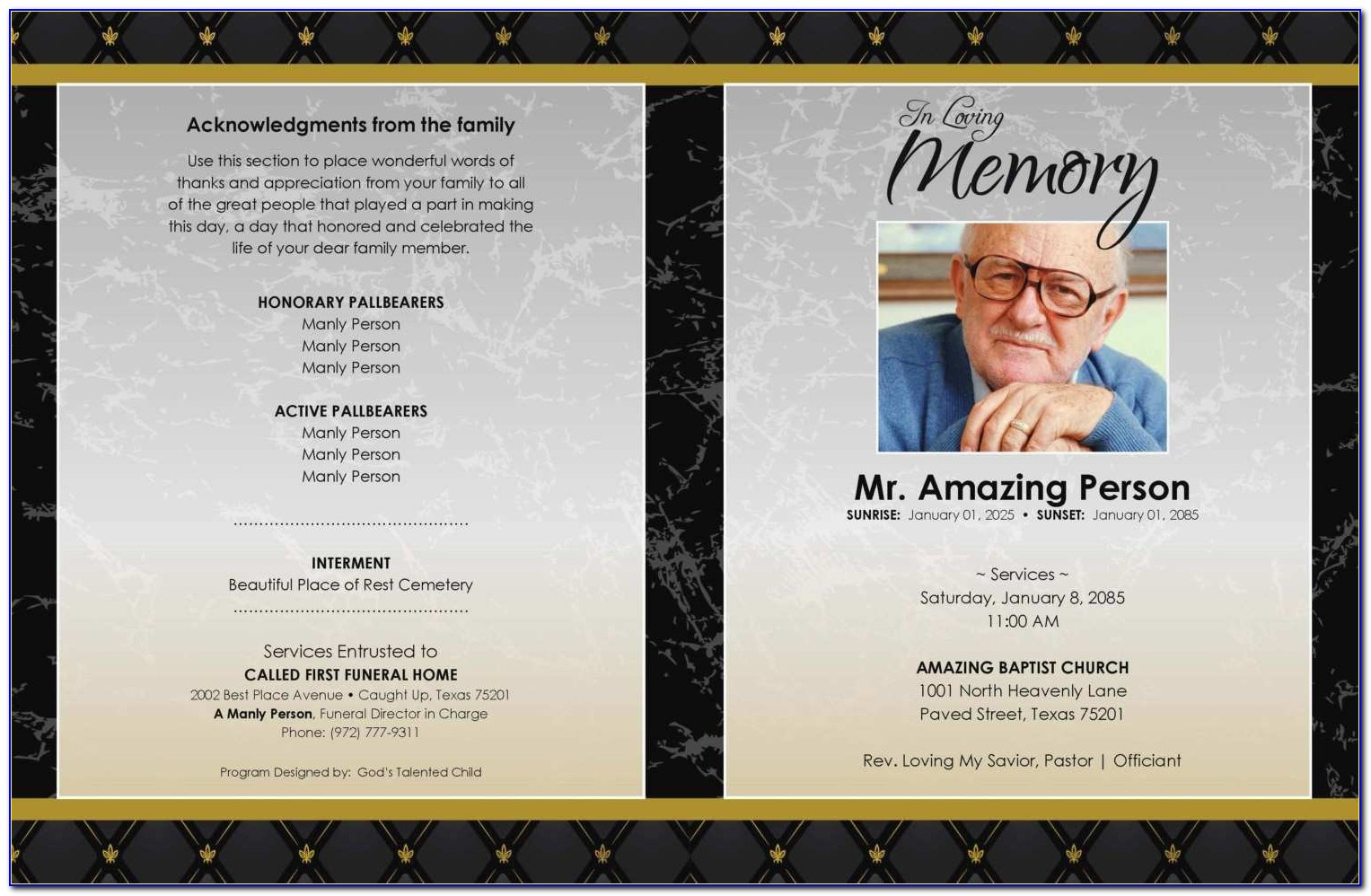 Free Funeral Program Template For Microsoft Publisher Best Of Free Editable Funeral Program Templates Fresh Free Editable Funeral