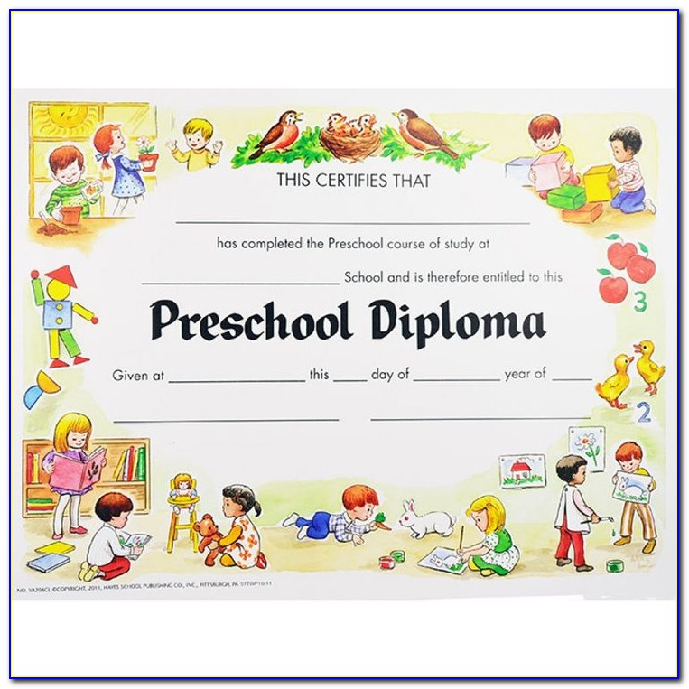 Pre Kindergarten Certificate Template