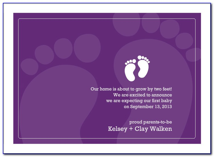 Pregnancy Announcement Card Template Free