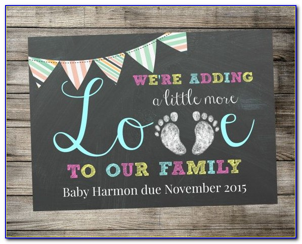 Pregnancy Announcement Cards Printable