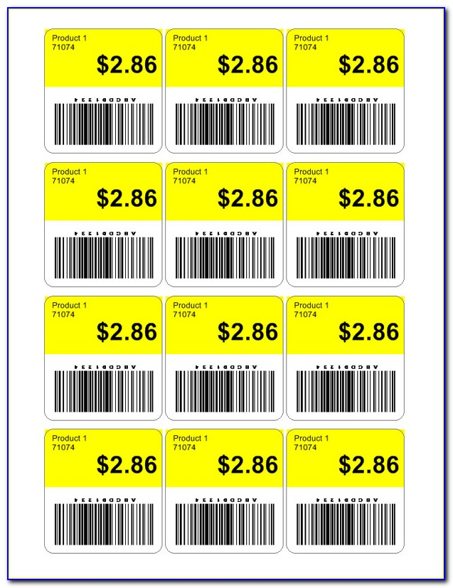 Price Tag Label Template