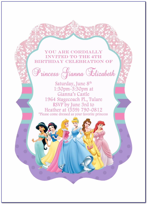 Princess Birthday Invitation Samples
