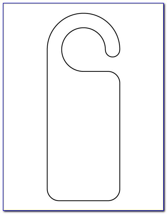 Printable Door Hanger Template Free
