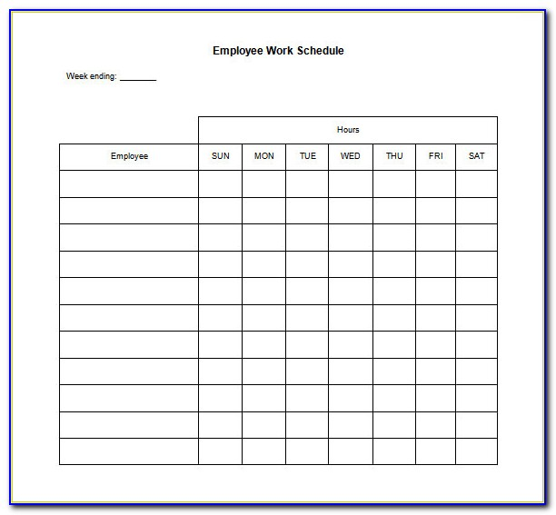 Printable Employee Schedule Template