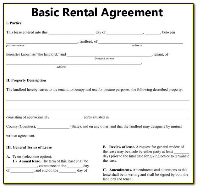 Printable Room Rental Agreement Template