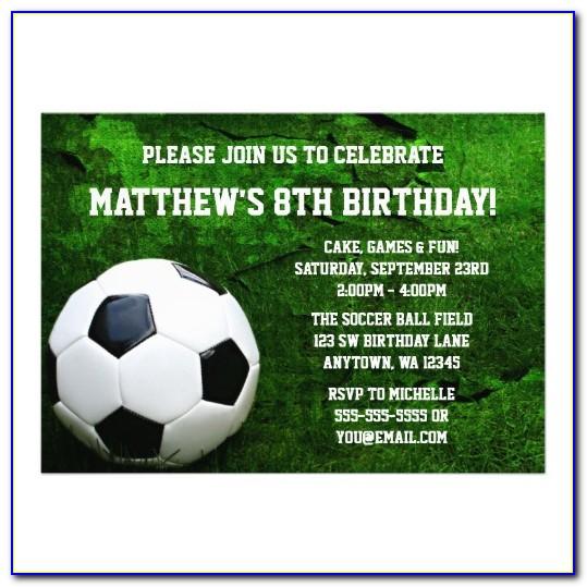 Printable Soccer Invitation Templates