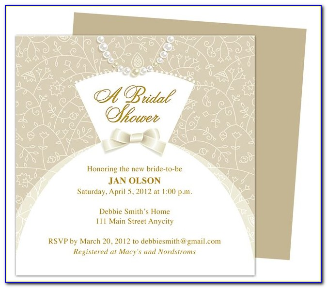 Printable Wedding Shower Invitation Templates