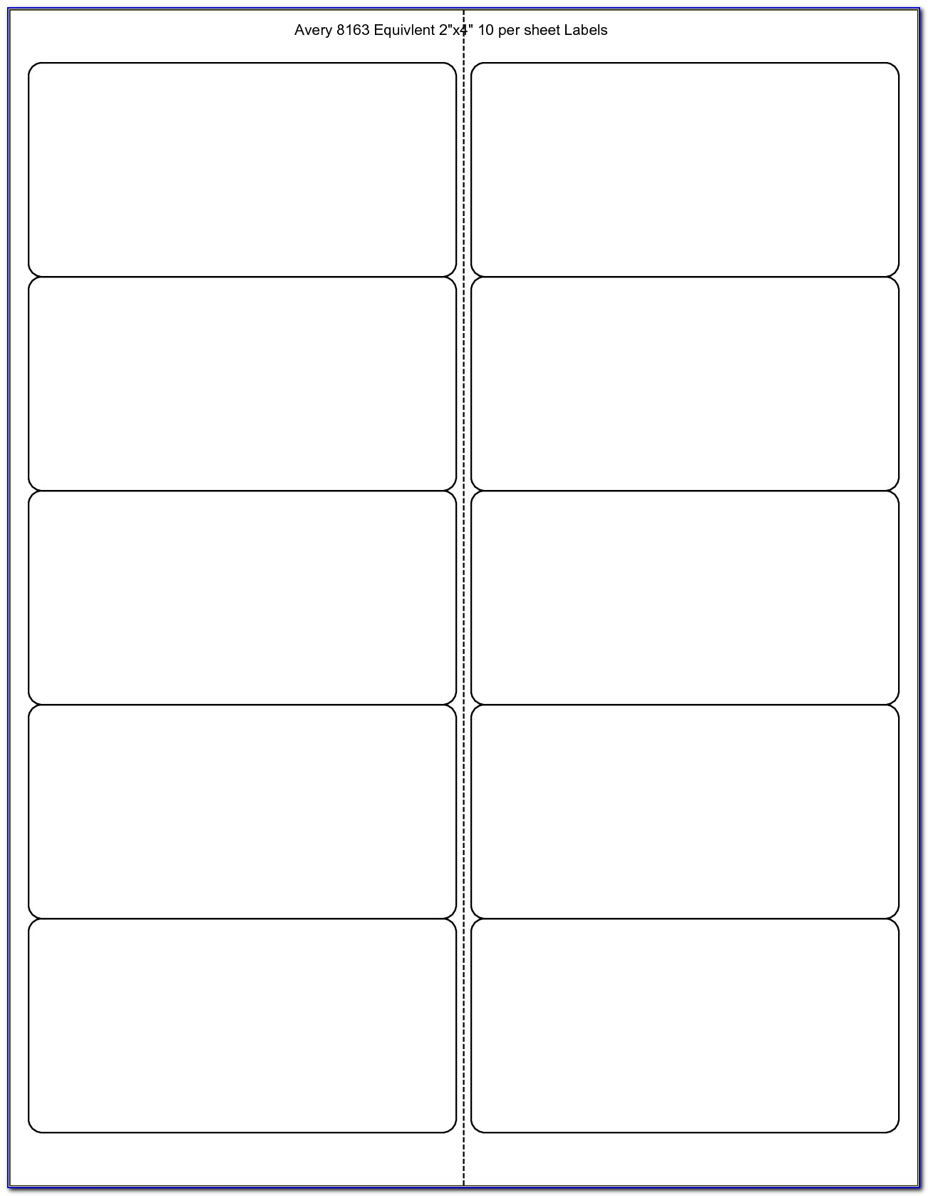 Printing Labels Template Word