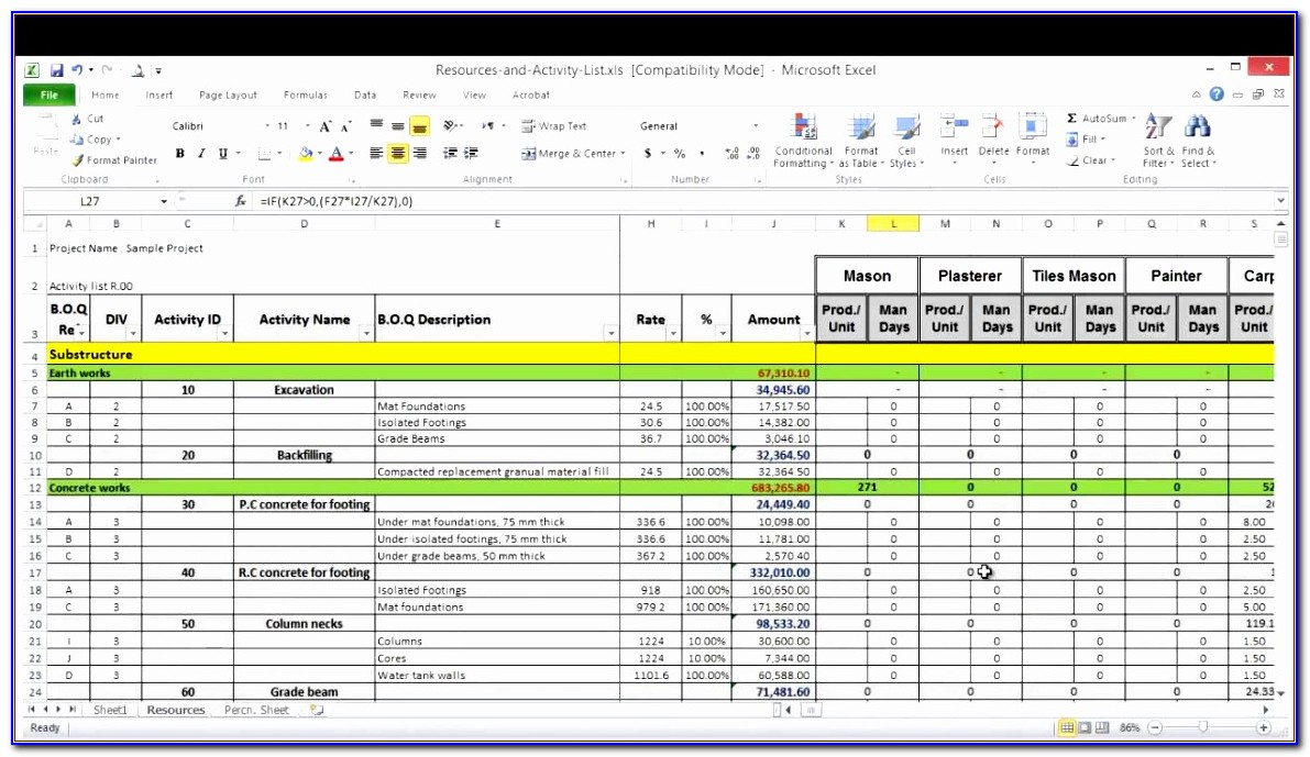 Resource Capacity Planning Excel Template Wjduh Awesome Resource Planning Spreadsheet Template