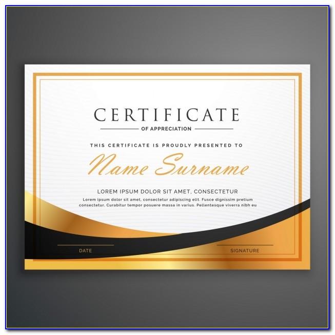 Professional Certificate Samples