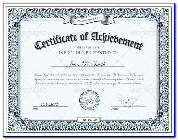 Professional Certificate Templates For Powerpoint
