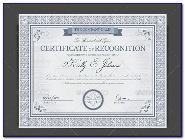 Professional Certificate Templates For Word Free
