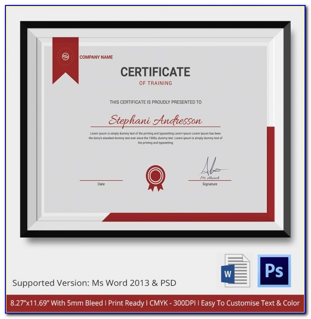 Professional Certificate Templates Psd Free Download