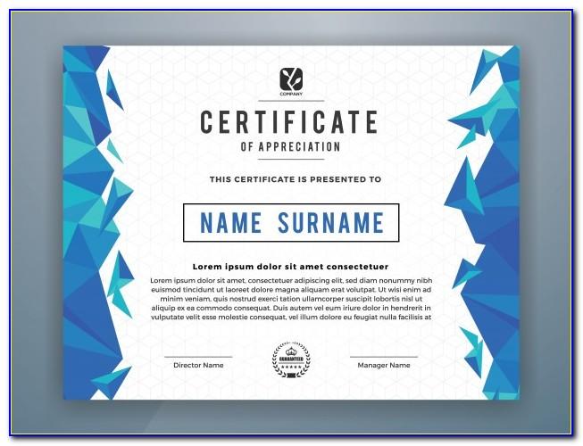 Professional Certificate Templates Psd