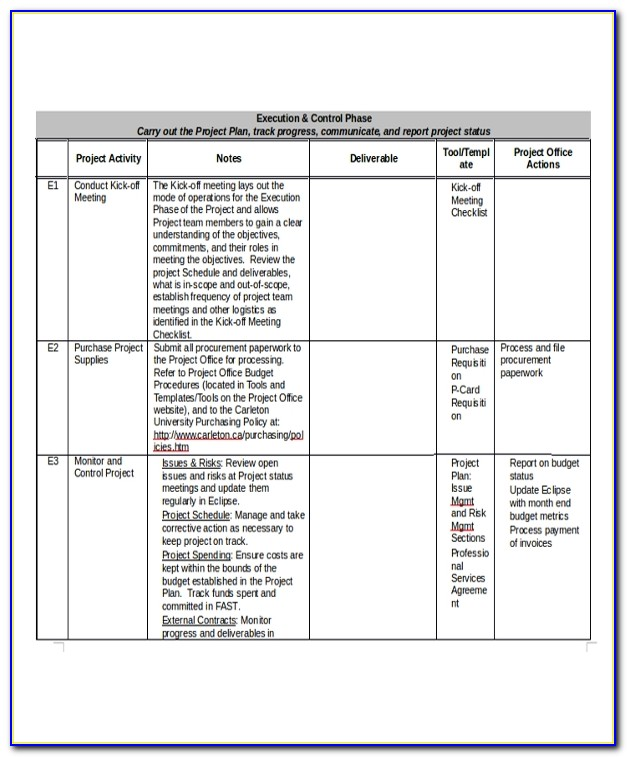 Project Manager Cv Template Word